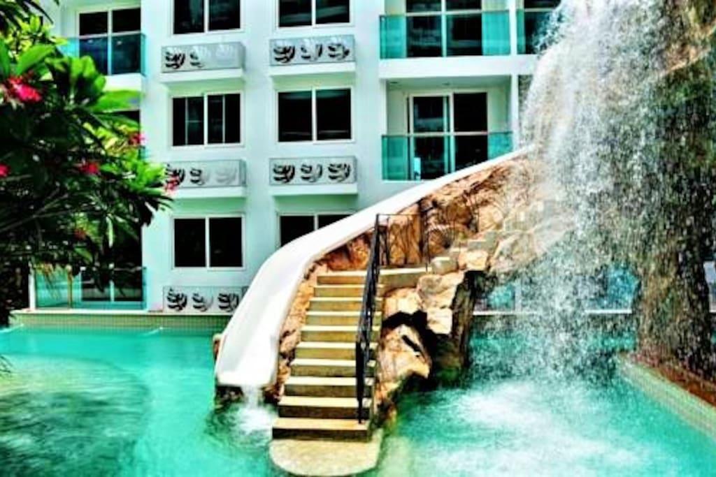 бассейн водопад
