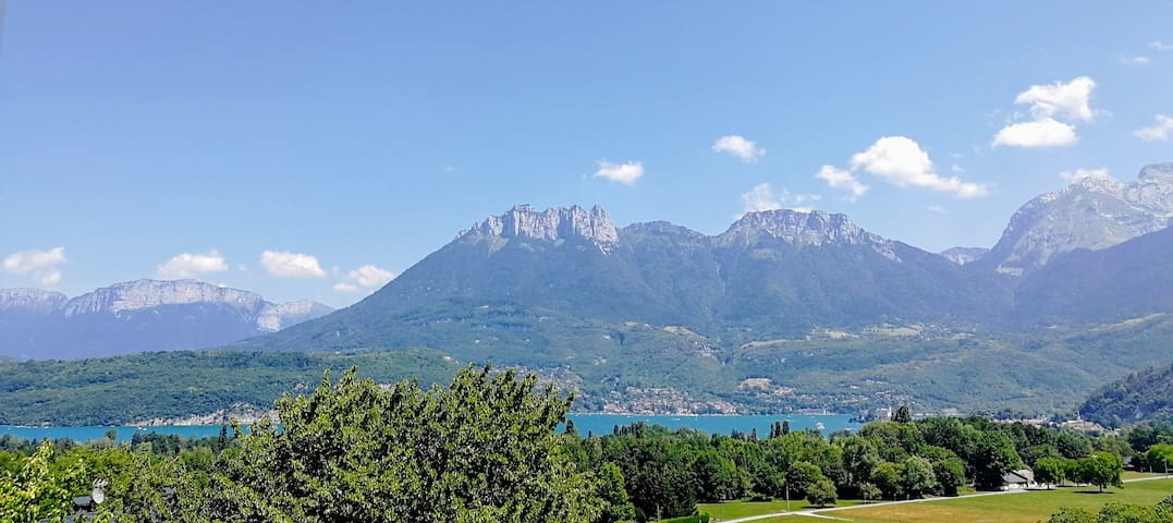 Near Annecy, master suite in villa with lake view