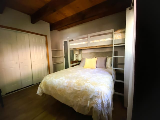 Main floor Bedroom No 1.  Full bed. Twin Loft