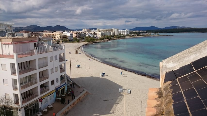 Beachfront 1 Bedroom Apartment - S'Illot-Cala Morlanda - Apartamento