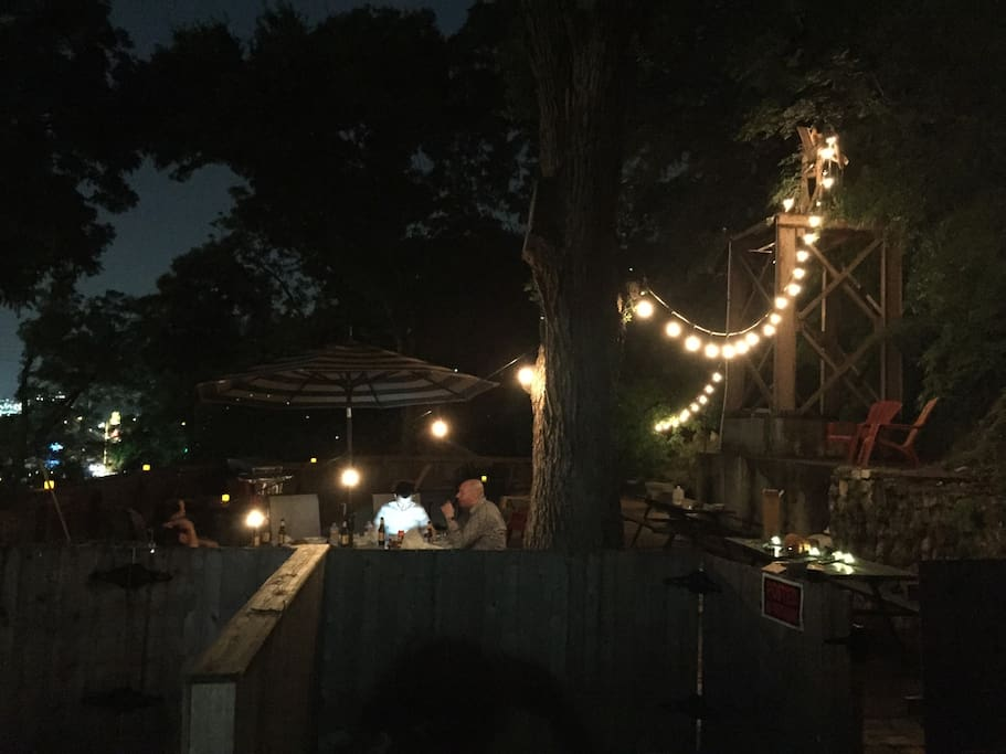 Enjoy our giant patio that overlooks Restaurant Row & is only a block from Zilker Park and ACL!