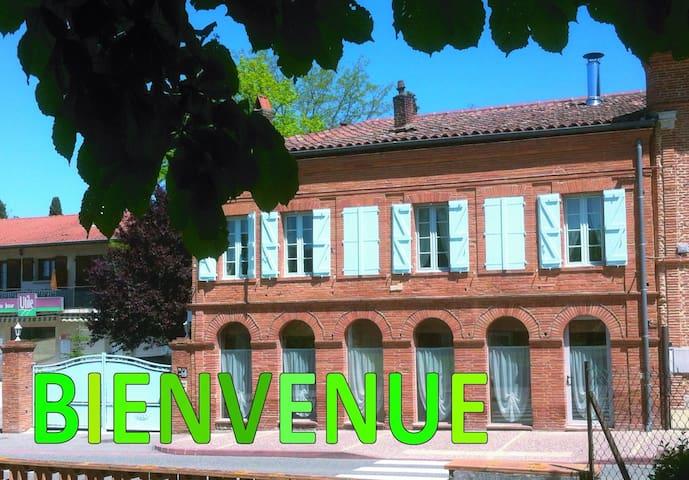 Gîte des Arcades : Chambre verte - Labastide-Beauvoir - Casa