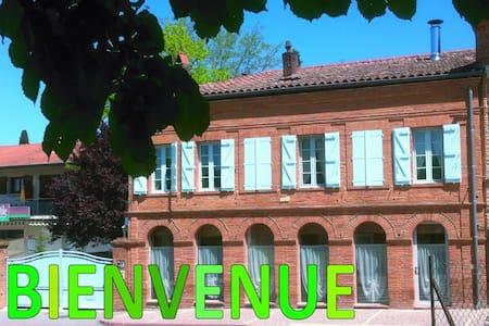 Gîte des Arcades : Chambre verte - Labastide-Beauvoir