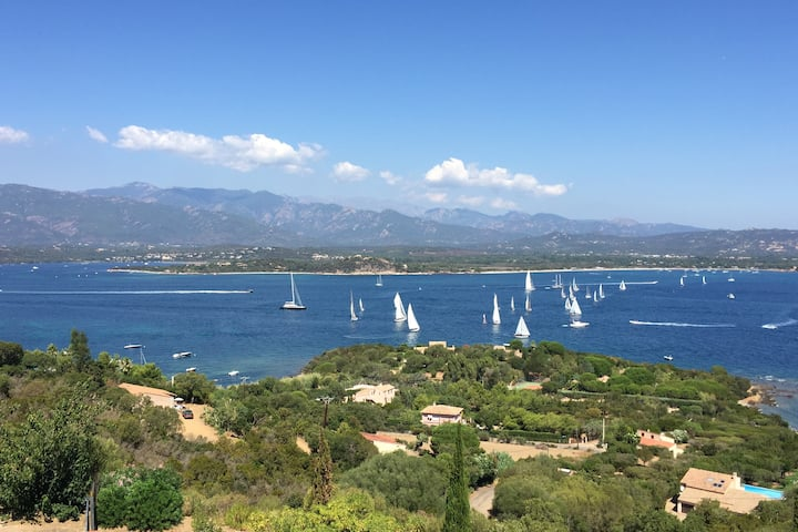 Most beautiful view Panoramic Gulf Porto Vecchio