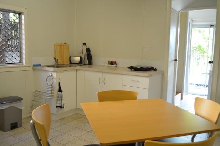 Own kitchen/dining with Jug, Toaster & M/wave