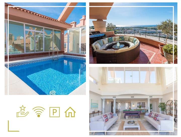 Heated PrivatePool BBQ Jacuzzi &Topviews Penthouse