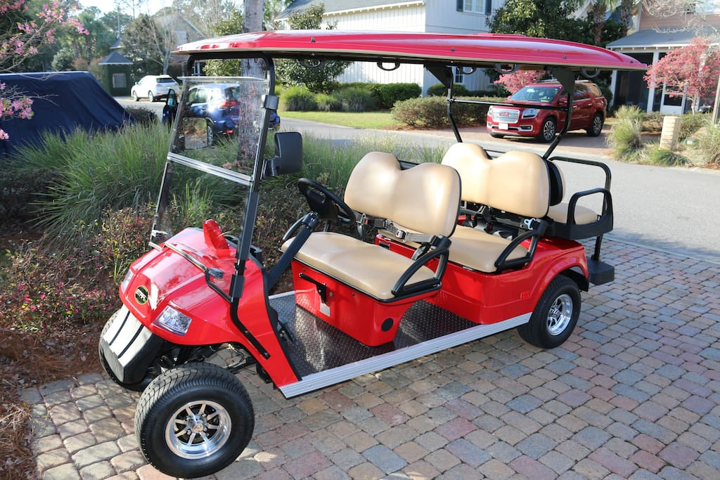 Brand new 2018 golf cart for your use.