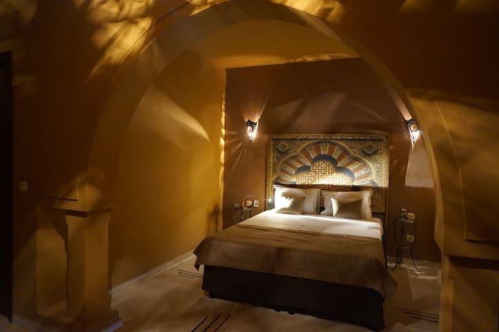La Ghorfa, chambre d'hôtes à Djerba près de la mer - Tezdaine - Pensió