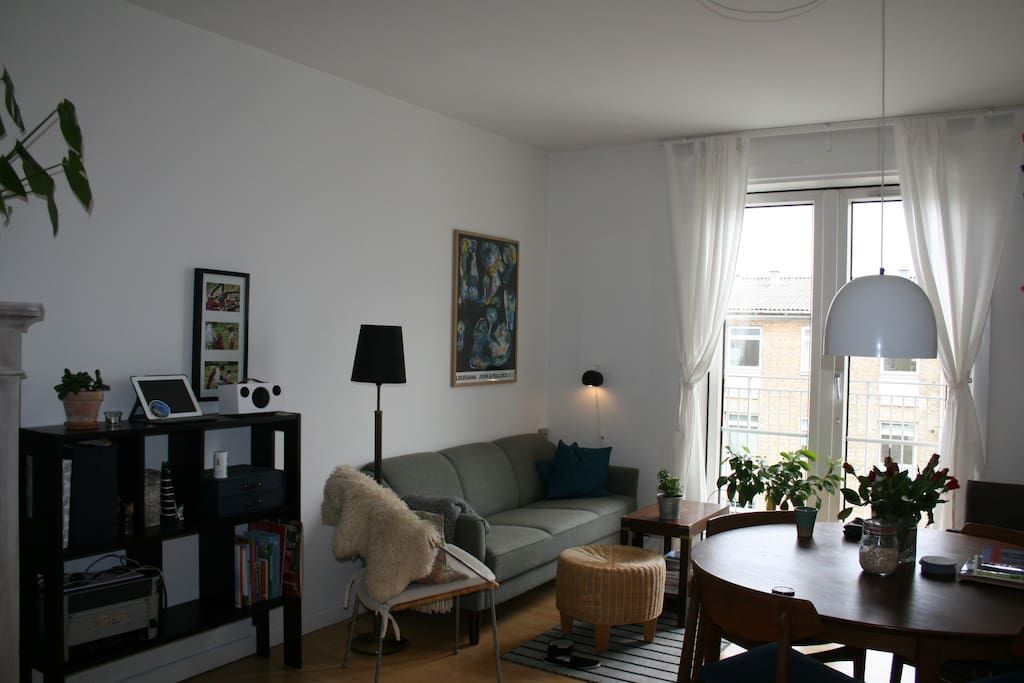 The living room + dining table