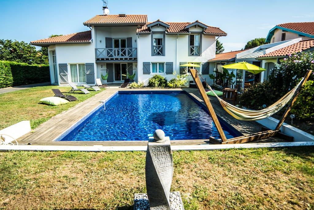 Villa quartier calme pr s de la mer maisons louer for Autour de la maison anglet