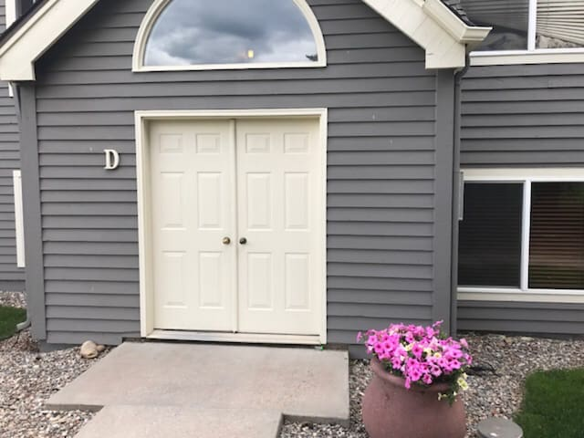 The front doors