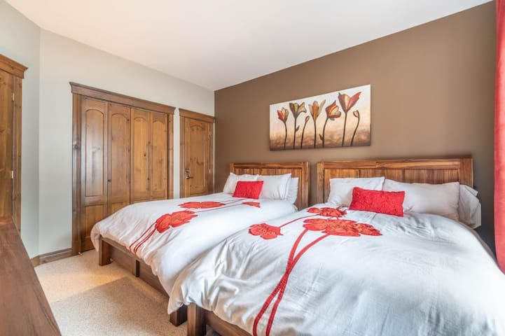 Two double beds in the bedroom