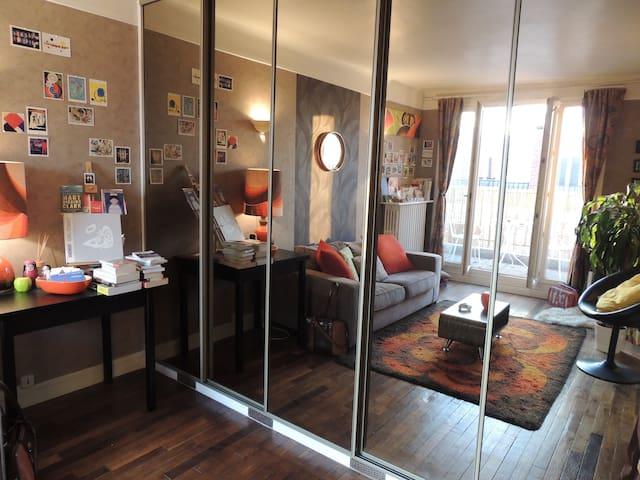 Appart avec terrasse - cosy & vintage - Issy-les-Moulineaux - Wohnung
