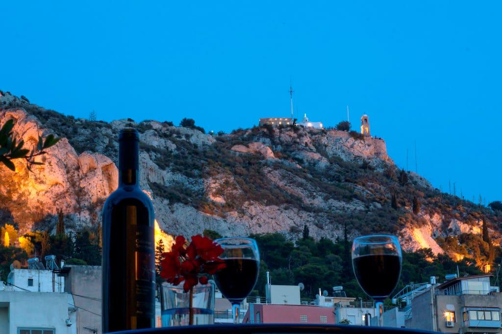 Lycabettus hill. Veranda view...