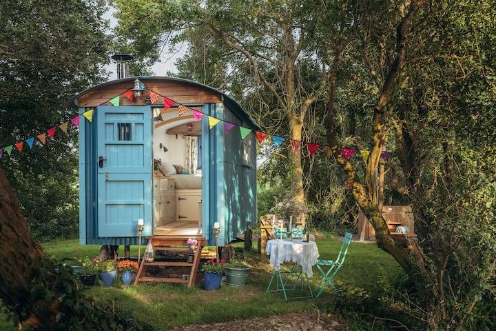 Free Range Escapes' Bluebell shepherd's hut