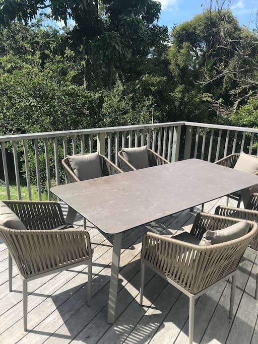 New outdoor table & chairs