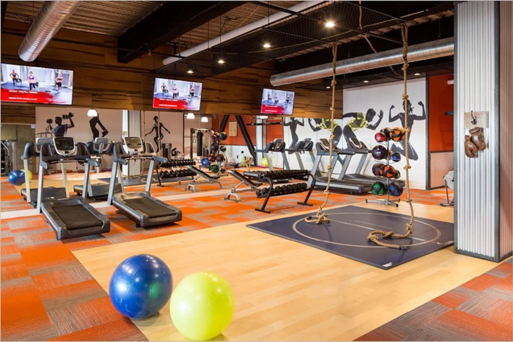 Building's Cross Fit Gym on First Floor