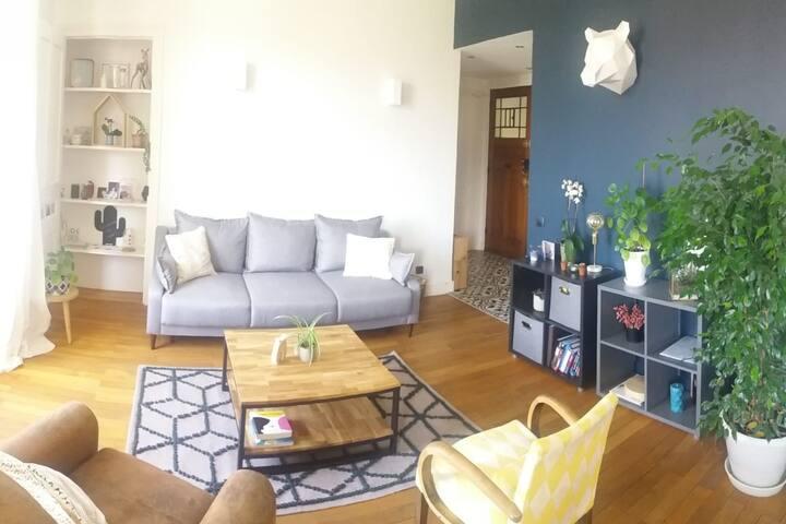 Appartement cosy de 100m2 au calme