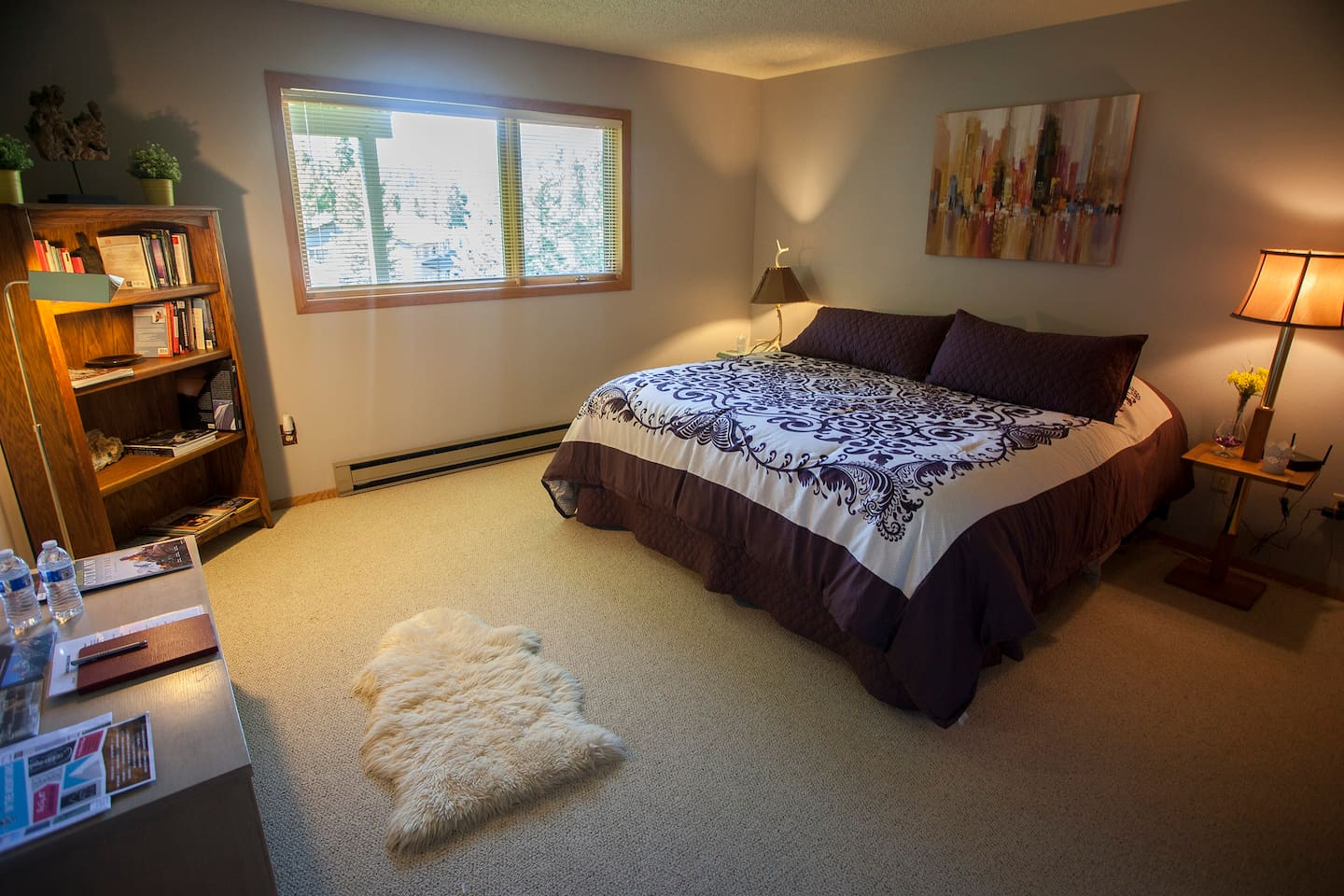 Large, beautifully updated bedroom with king-size luxury pillowtop mattress.