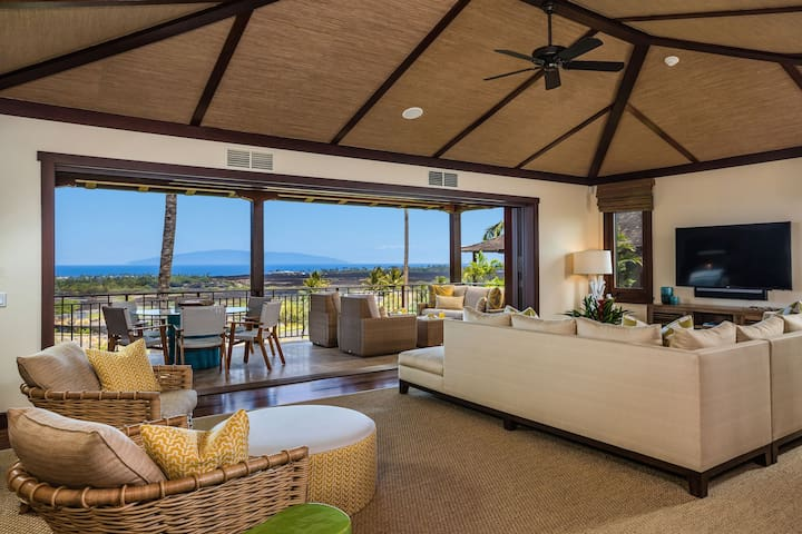 Ocean view, Villa, Luxury, Hali'ipua Villa 108 at Four Seasons Resort Hualalai