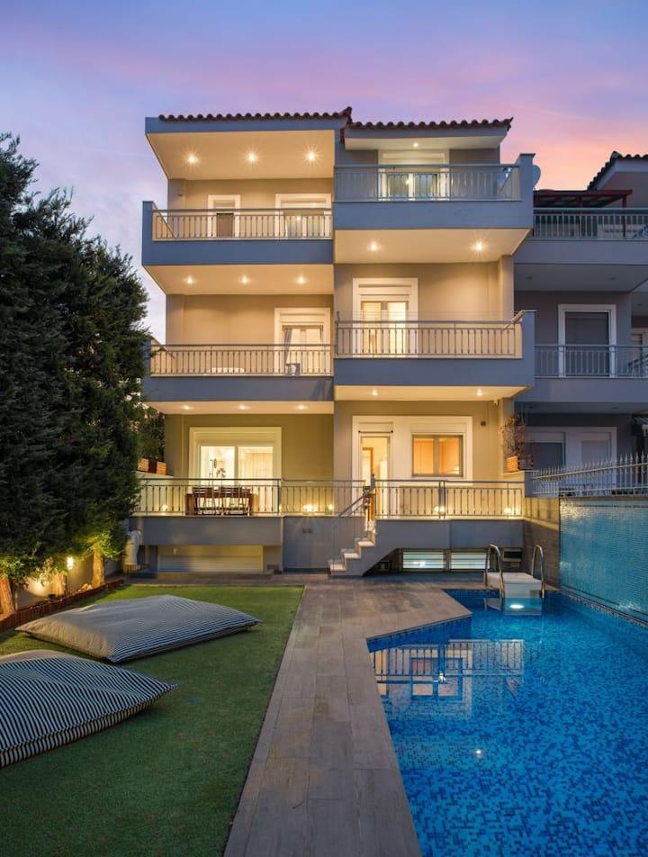 Athenian Grand Riviera Villa, with Private Pool.