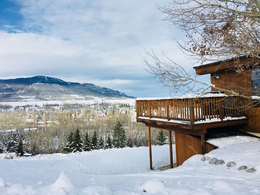 Atop it All, with view of Red Lodge Mountain and the town