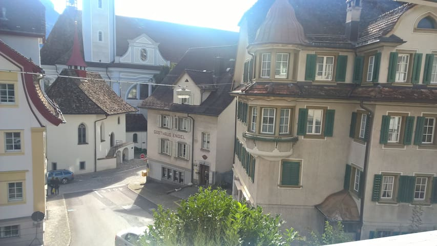Cosy accomodation in the centre of Schwyz