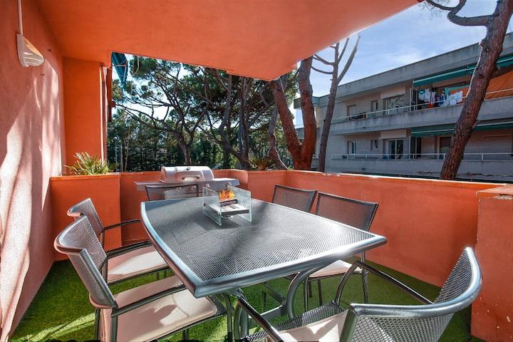 Appartement de plage conçu près de Barcelone+Vélos