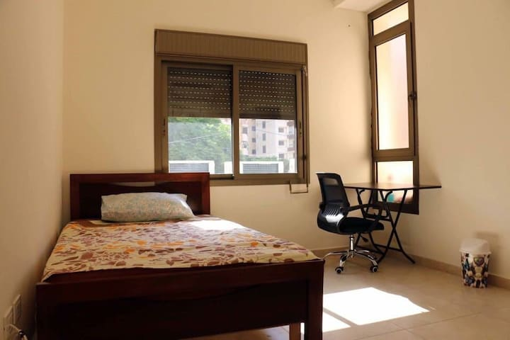 Private room with balcony for males in Beirut