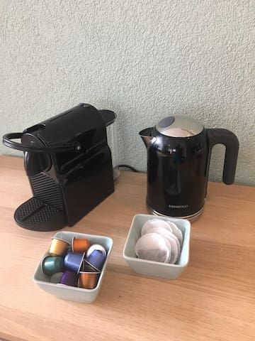 Coffee maker and kettle