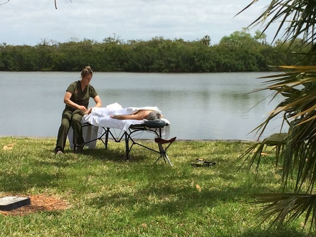You can schedule a personal massage waterside.