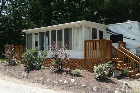 Park Model with Sunroom at Campground Retreat - Litchfield