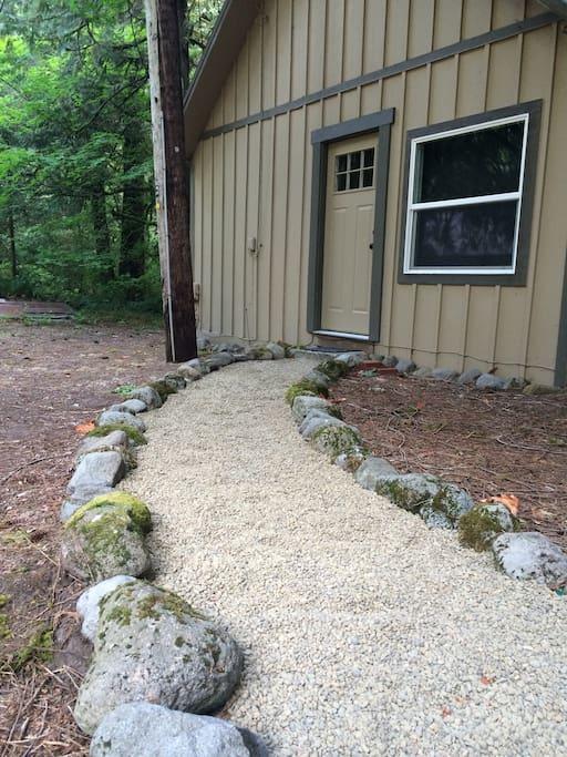 Rock lined Entrance