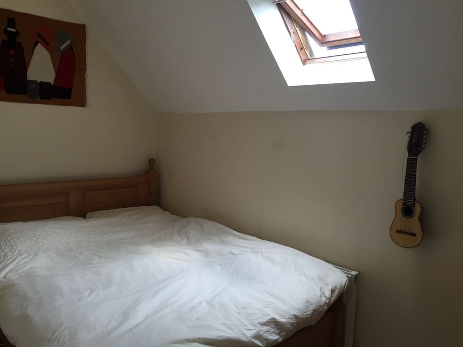 1st Room with double bed and chest drawers (photo 1)