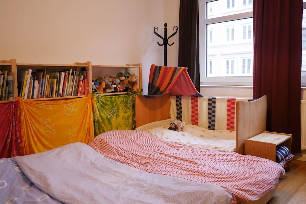 Sleeping in the Bedroom (3 Adults, 1 Kid (additional))