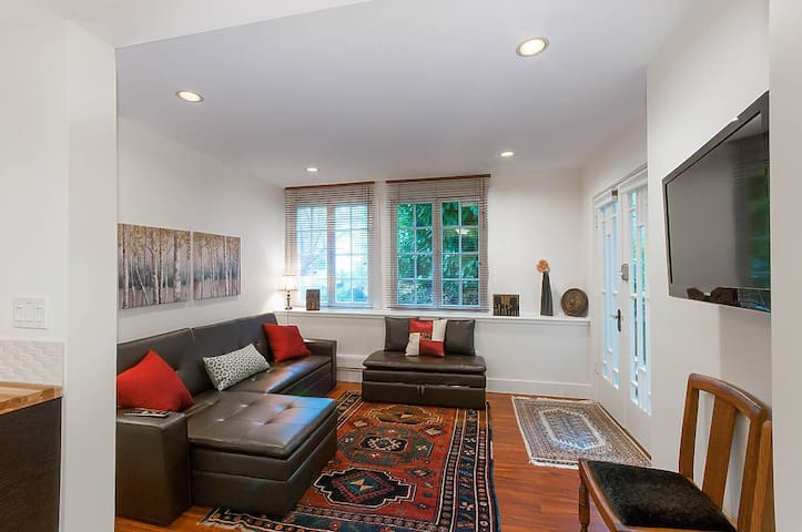 Private 2 BR garden suite in character home