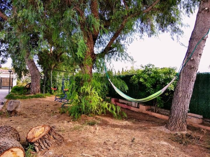 ¡Ven a  acampar a mi jardín!