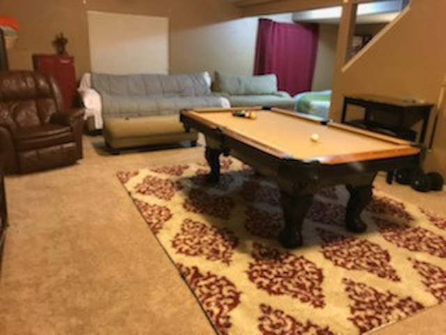 1 Full Size Couch in shared basement