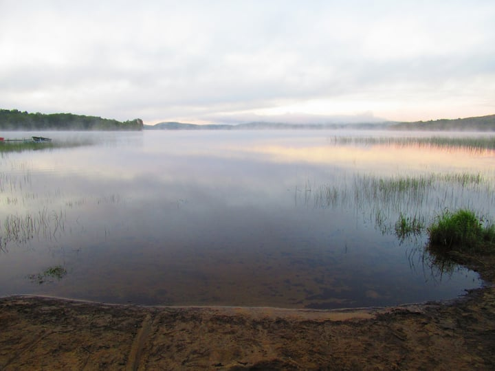 Chalet bord du lac Nominingue- Hautes- Laurentides