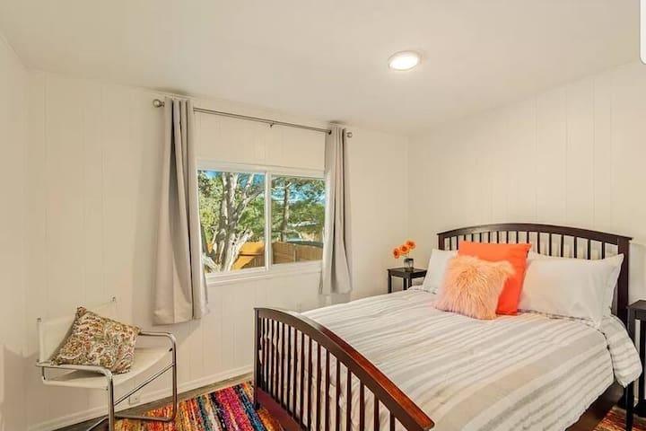 Second bedroom.  Brand new queen mattress.