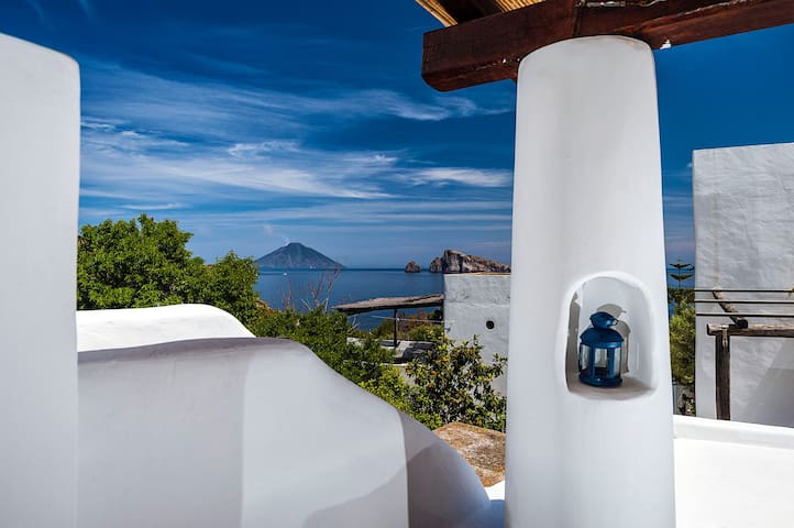 Aeolian House with Panoramic Terrace in Panarea