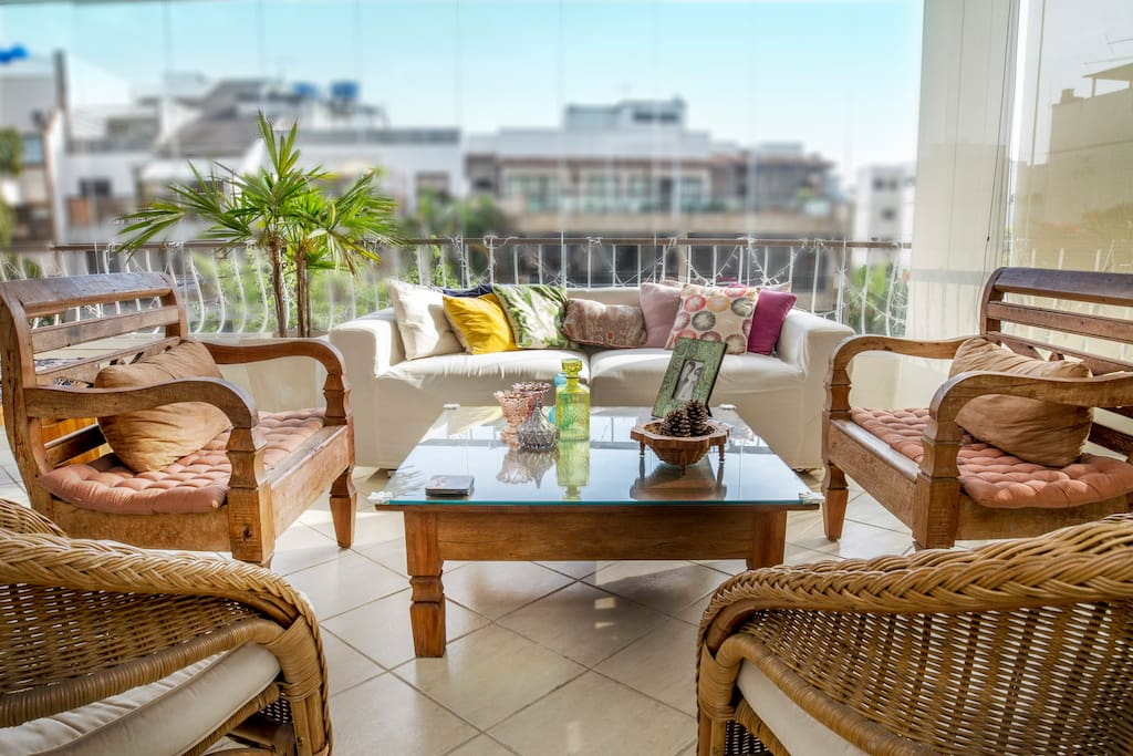 Varanda - lounge, poltronas e sofá