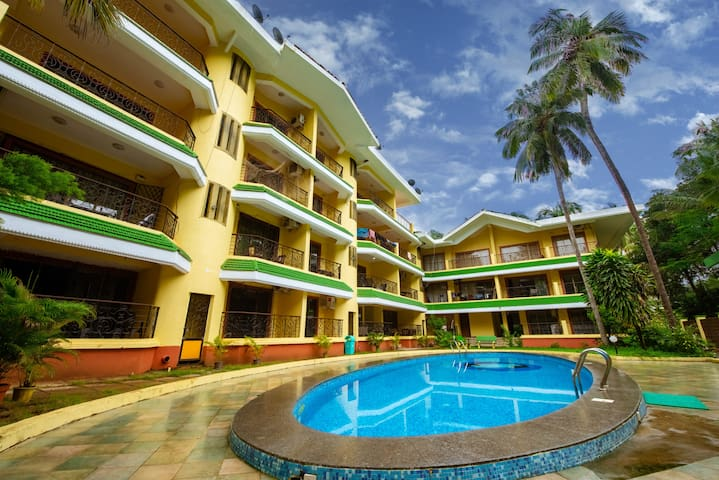 2 Bedroom Fully Furnished  Specious Apt Near Baga