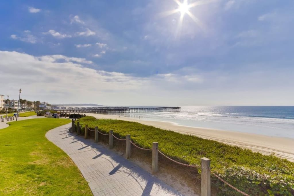 Enjoy long relaxing walks along the boardwalk that is just outside of the property