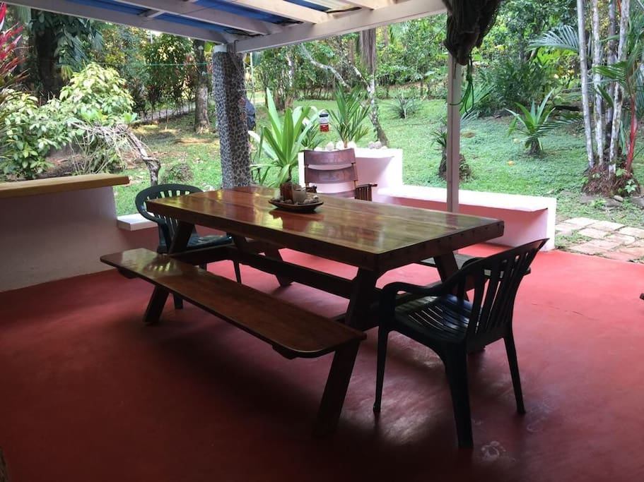 Outside dining area + BBQ