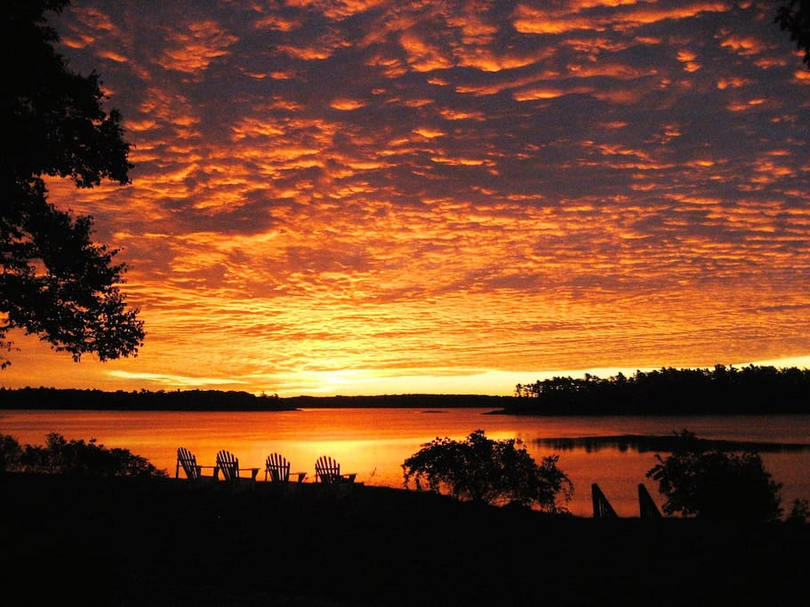 Enjoy spectacular sunrises over Casco Bay and the islands.
