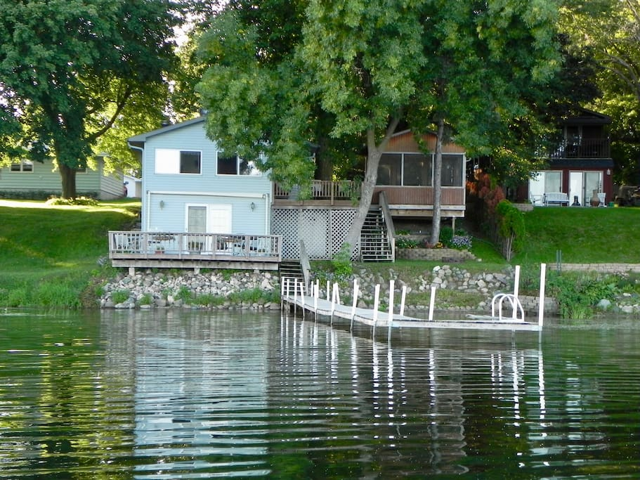 This is why we call it the Waters Edge! Includes screened gazebo for lunching and viewing beautiful sunrises