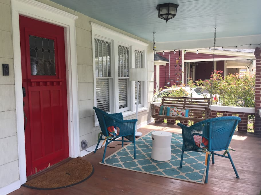 Excellent porch for sweet tea with friends
