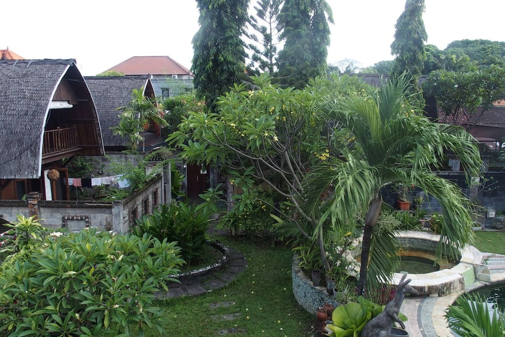 View from upstairs balcony
