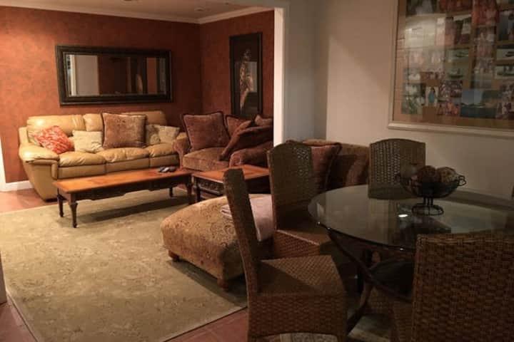 Modern furnished basement apartment